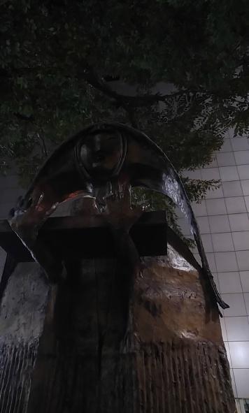 statue in Shibuya