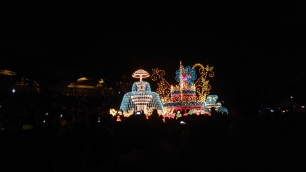 the floats at Everland were pretty cool