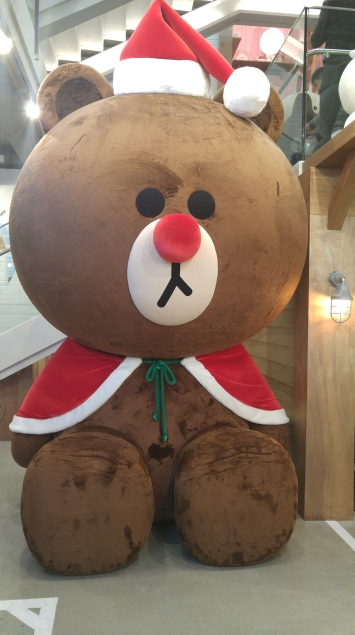 Christmas themed Brown at Line store