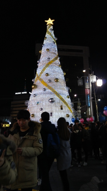 Christmas Tree in Myeongdong