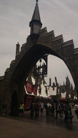 Hogsmeade, always in constant winter