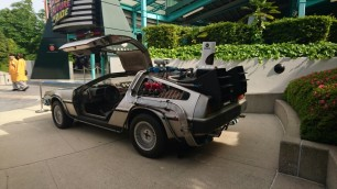 Back to the Future ride with the DeLorean
