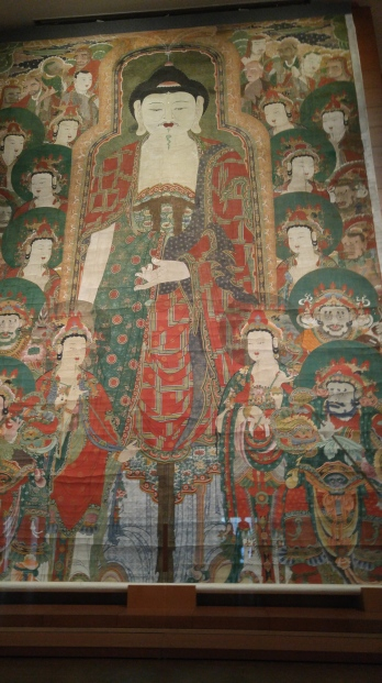 This Buddhist painting was massive in size