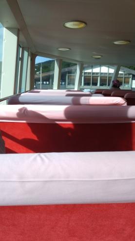 cozy seats aboard
