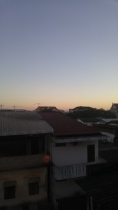 view of sunset from my room
