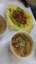 oyster omelete (Ô-á-tsian, 蚵仔煎) and oyster thin noodles (Ô-á-mī-suànn ,蚵仔麵線)