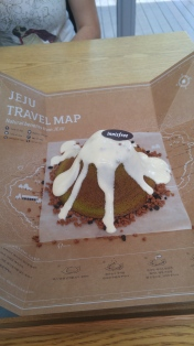 sprinkle with lava cookies, cover with white melting choco and a little chocolate innisfree sign