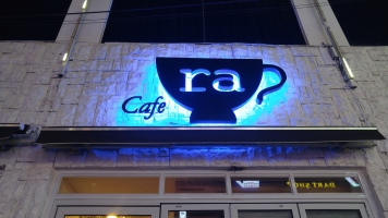cafe ra was a cute little cafe near our hostel and near a university. There were a lot of students studying.