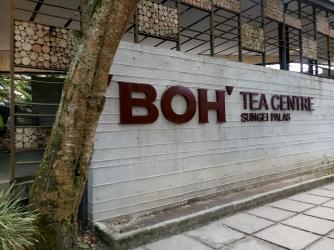 BOH factory tea center sign