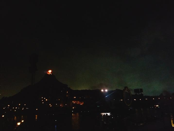 Mount Prometheus spitting fire