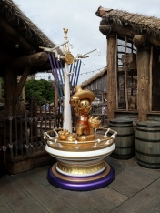 35th anniversary Mickey Mouse statue wearing a sombrero found in the Lost River Delta