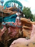 Little Mermaid statue of Ariel, Flounder, and Sebastian in the Mermaid Lagoon