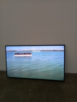 Monument to Sacondâia shown floating about on the water. The video is three minutes and 15 seconds.