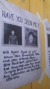 A missing poster for Will Byers from Joyce Byers